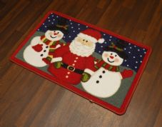 NON SLIP CHRISTMAS MAT 50x80CM SANTA SNOWMEN NEW WASHABLES DOORMAT GREAT QUALITY